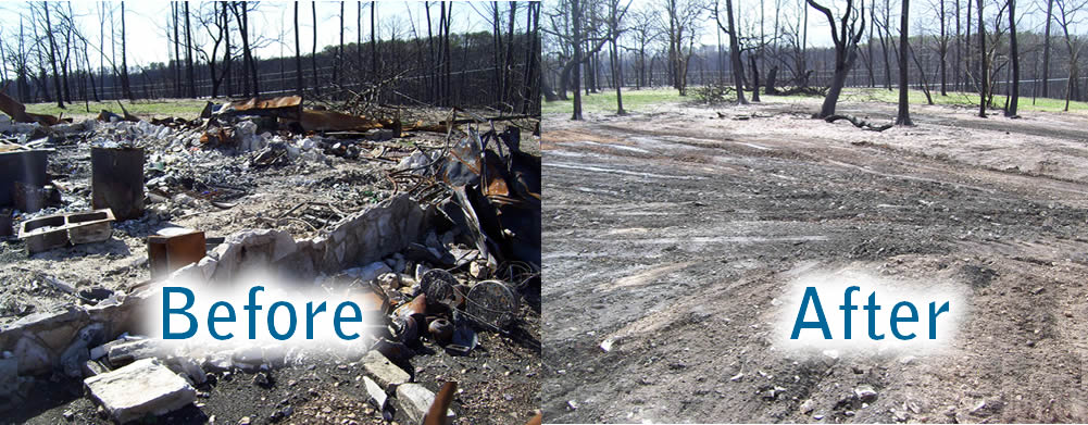 BEFORE AND AFTER DEMOLITION SERVICE PICTURE